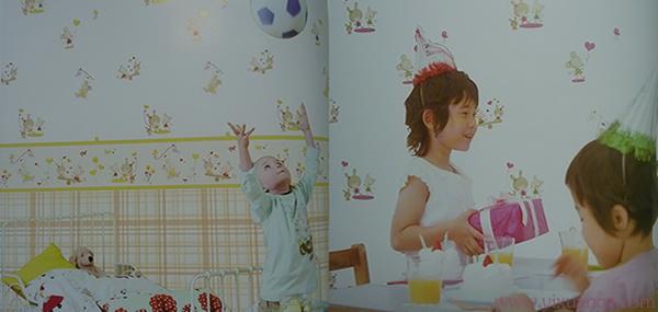 可爱小孩宝宝儿童房卧室壁纸哪种好,开墙纸店首选儿童