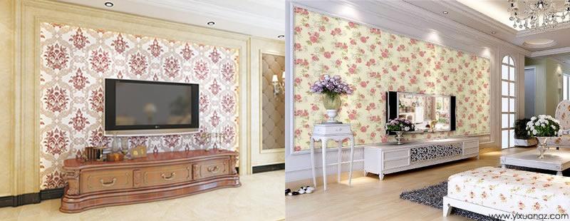 伊瑄电视背景墙墙布价格表以及无缝壁布优点有哪些呢